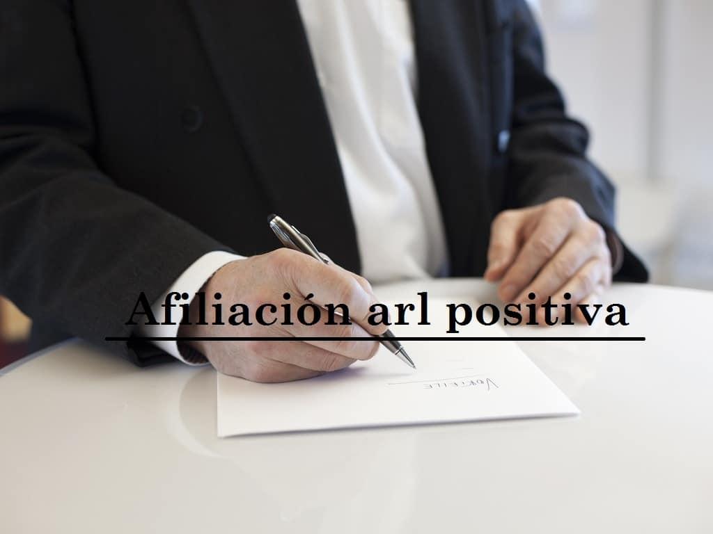 afiliación arl positiva