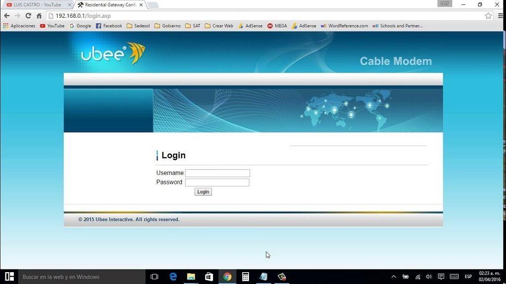 cómo cambiar la contraseña de mi módem Megacable Ubee